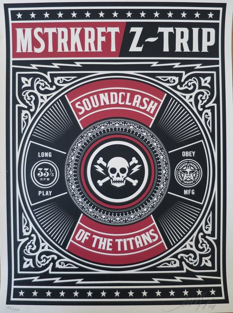 "Shepard Fairey, 'Z-Trip ""Sound Clash of the Titans""', 2008, AYNAC Gallery"