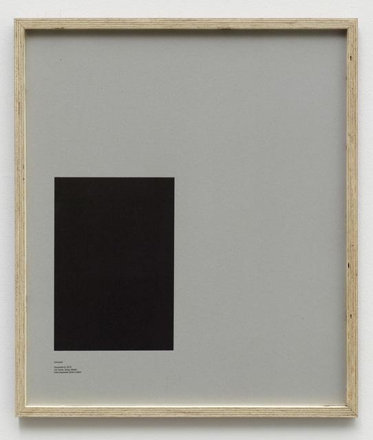 , 'Loop Holes (Unknown, December 8. 2013, Jail Ceres, Goias, Brazil, hole measures 22 x 32 cm),' 2014, Galleri Nicolai Wallner