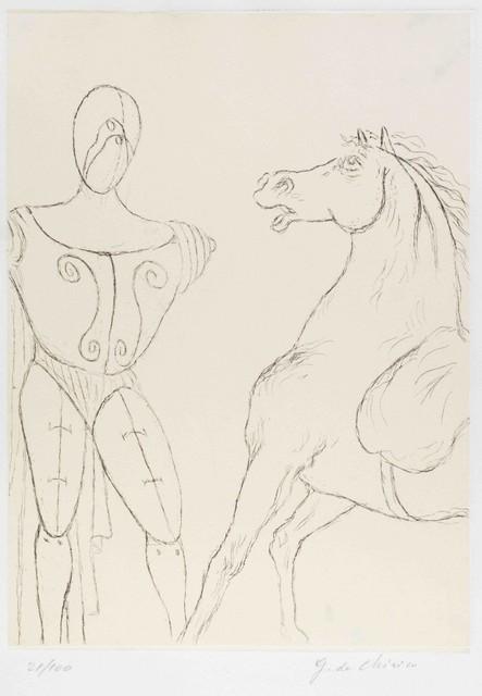 Giorgio de Chirico, 'Cavallo e Trovatore', 1969, Wallector