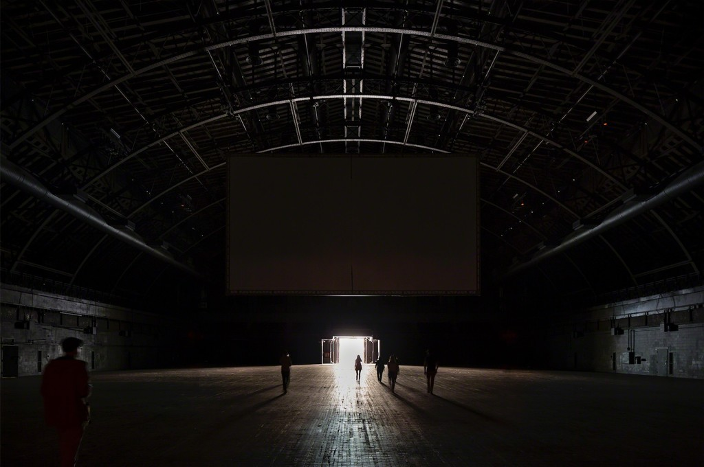 Installation View Of Martin Creed The Back Door At Park Avenue Armory On