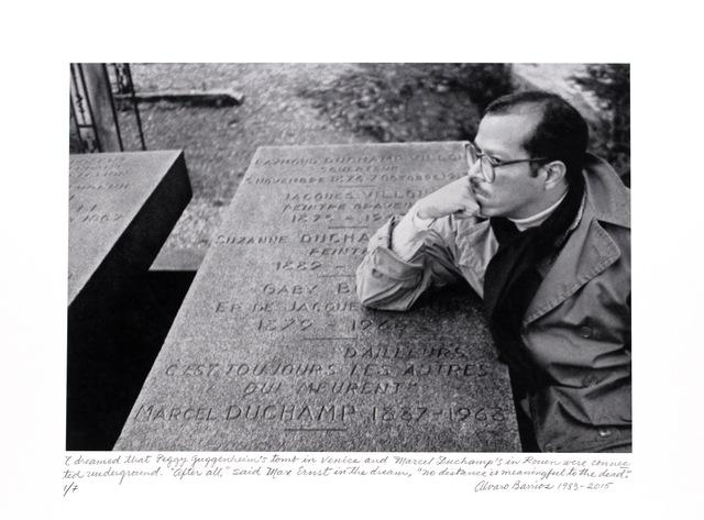 """, '""""Soñé que las tumbas de Peggy Guggenheim y Marcel Duchamp estaban conectadas bajo la tierra..."""",' 1983, Henrique Faria Fine Art"""