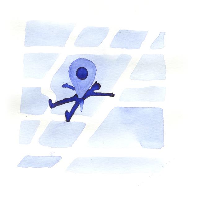 , 'Googlemaps Dot,' , Bluerider ART