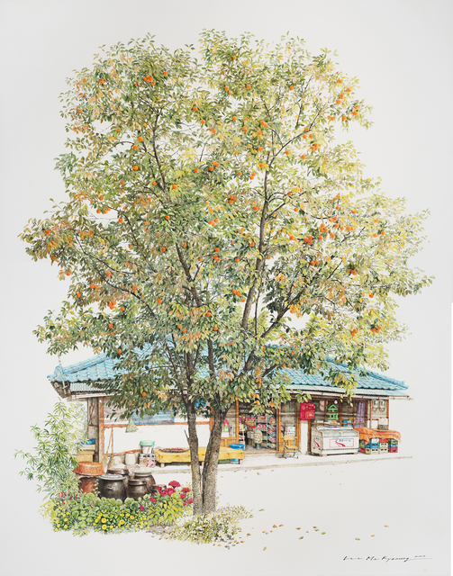 , 'Convenience Store With Persimmon Tree,' 2017, Gallery Imazoo