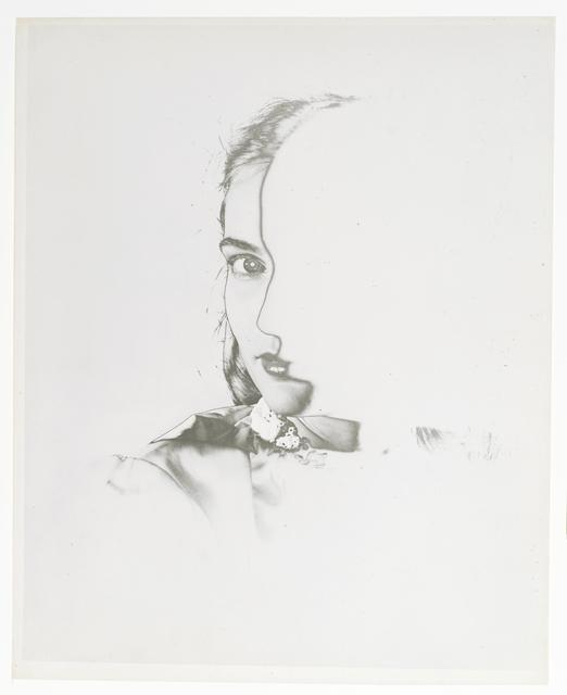 , 'Solarized Half  Face profile,' ca. 1943, Galerie Sophie Scheidecker
