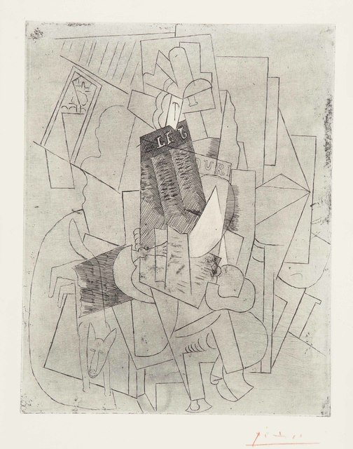 Pablo Picasso, 'L'Homme au Chien (Rue Schœlcher)', 1915, Print, Etching, on Arches paper, Christie's