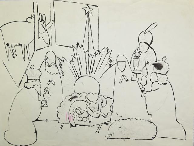 Andy Warhol, 'Untitled (Nativity Scene)', ca. 1954, Long-Sharp Gallery
