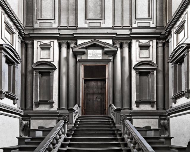 Massimo Listri, 'Biblioteca Laurenziana II, Florence, Italy', 2018, Photography, Chromogenic Print - Framed, CHROMA GALLERY