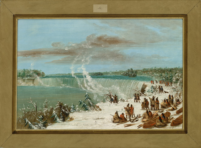 George Catlin, 'Portage Around the Falls of Niagara at Table Rock', 1847/1848, Painting, Oil on canvas, National Gallery of Art, Washington, D.C.