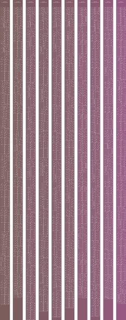 , 'metamorphosis music notation numeral 1,' 2015, Johan Deumens Gallery