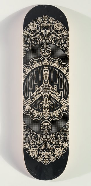 Shepard Fairey, 'Obey Skate Deck', c. 2008, Print, Offset lithograph in colors on skate deck, Heritage Auctions