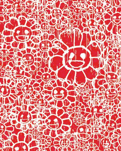 MADSAKI, 'FLOWERS C RED BY MADSAKI X TAKASHI MURAKAMI', Marcel Katz Art