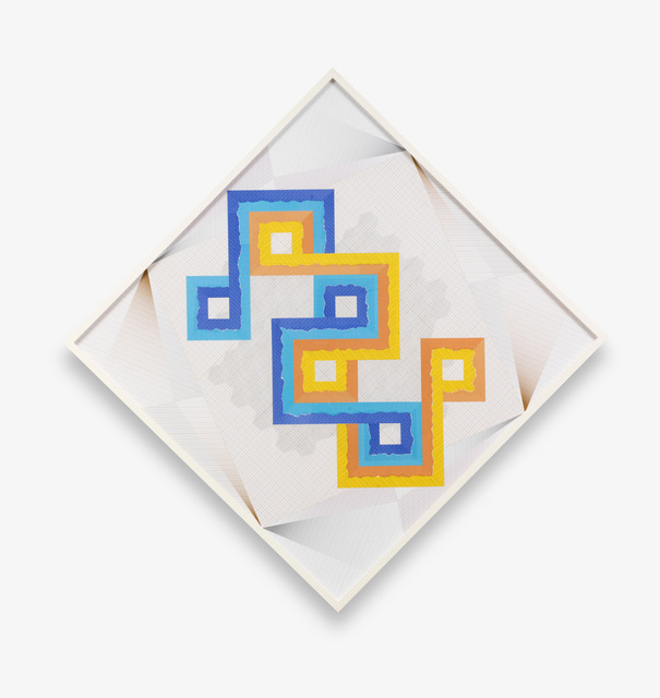 , 'Diagonal Stitches in Two Tones – Trustworthy #291,' 2016, Barbara Wien