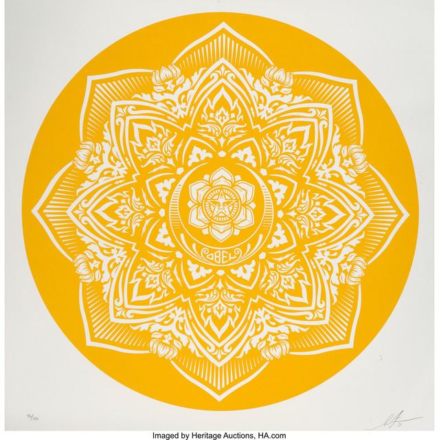 Shepard Fairey (OBEY), 'Yellow Mandala', 2018, Heritage Auctions