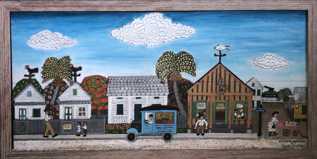 Mario Sanchez, 'Bicentennial Americana #2', ca. 1970, Painting, Paint on wood panel with wooden pieces, Art Market Liaison