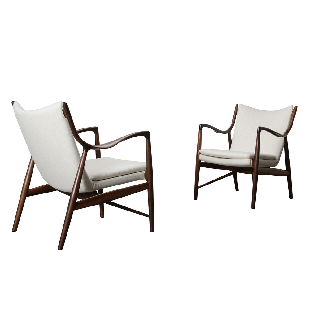 Finn Juhl Pair Of Nv 45 Chairs 1945 Artsy
