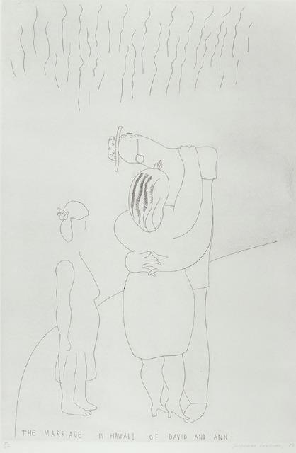 David Hockney, 'The Marriage in Hawaii of David and Ann', 1984, Axiom Fine Art