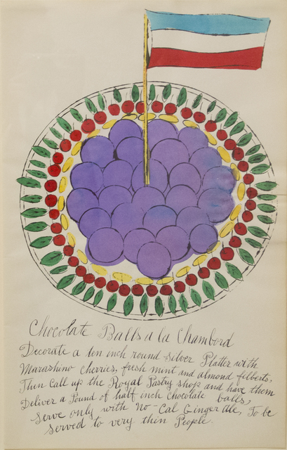 Andy Warhol, 'Chocolate Balls a la Chambord', 1959, Allouche Gallery
