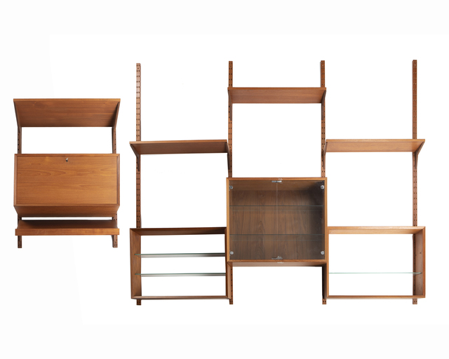 'A Danish Modern teak modular wall shelf', John Moran Auctioneers