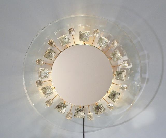 Max Ingrand, 'Rare Illuminated Mirror by Max Ingrand for Fontana Arte', ca. 1966, Design/Decorative Art, Glass, Brass, Donzella LTD