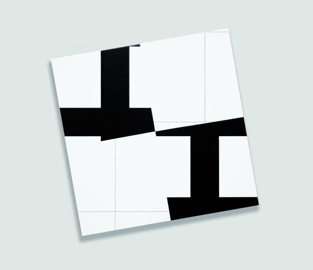 , '2 trames (10°-100°) strip-teasing 4 fois n°4,' 2008, Galerie Hervé Bize