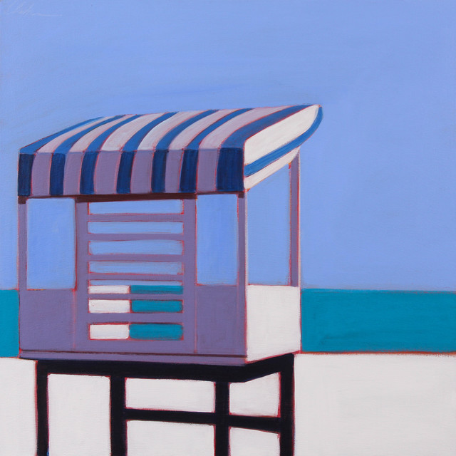 , 'Life Guard Station in Blue,' 2017, Caldwell Snyder Gallery