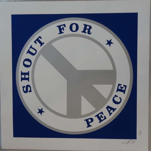 , 'Shout for Peace (Blue/silver),' 2014, Long-Sharp Gallery