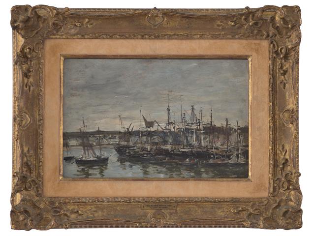 """Eugène Boudin, 'Portrieux """"Le Port""""', 1873, Queen Fine Arts"""