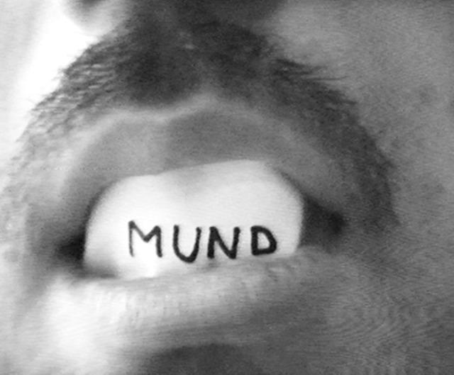 , 'Mundtext,' 1974, Anita Beckers