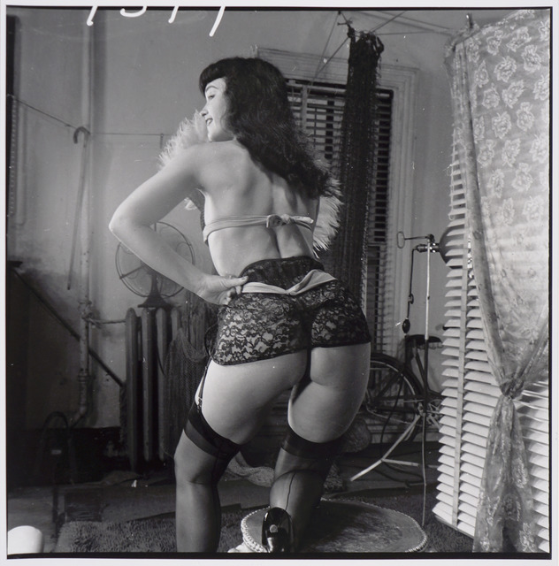 , 'Bettie Page (with lace garter belt, from behind),' ca. 1955/1980s, Corbett vs. Dempsey