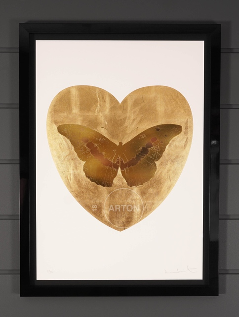 Damien Hirst, 'I Love You, Butterfly, Gold', 2015, Print, Silkscreen, Gold Leaf, Foil Block, Arton Contemporary
