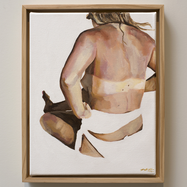 , 'Nude with Tan Lines on White, Back,' 2017, Jen Mauldin Gallery
