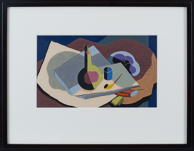 , 'Still Life with Pipe and Bottle,' 1934, Rosenberg & Co.