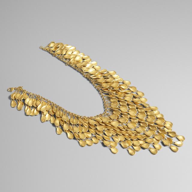 Robert Lee Morris, 'Golden Petal Waterfall necklace', 1989, Wright