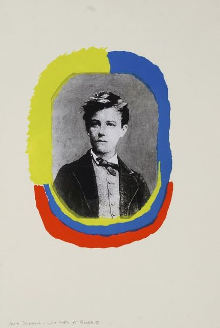Sonia Delaunay, 'Portrait of Rimbaud, from Les Illuminations', 1973, Print, Pochoir in colours with photo-collage on thick Arches wove, Roseberys