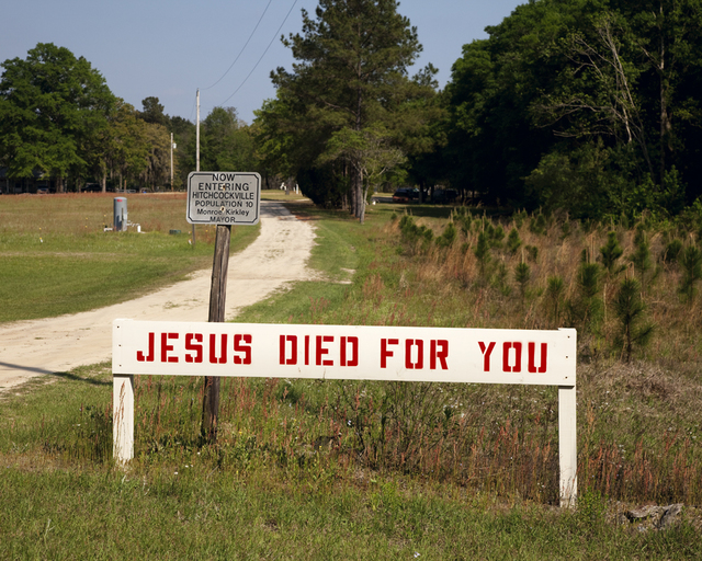 , 'Jesus died for you,' 2010, Benrubi Gallery