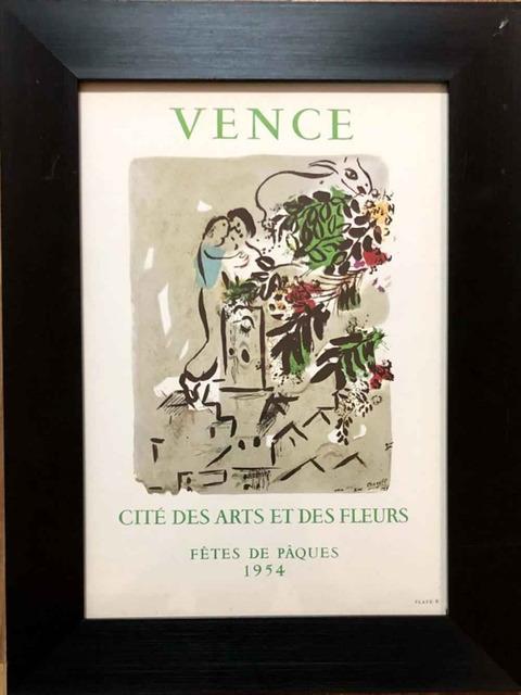 Marc Chagall, 'Vence. Cite des Arts et des Fleurs, 1954', 1954, Print, Lithograph, Leviton Fine Art