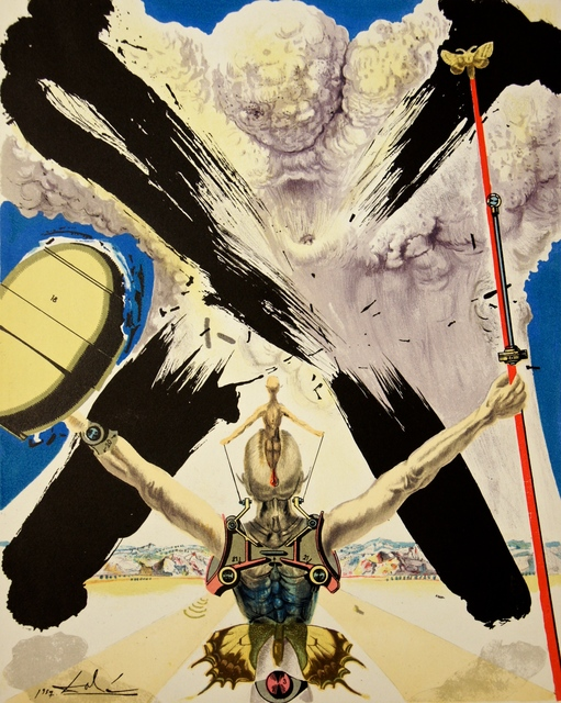 Salvador Dalí, 'The Atomic Era', 1957, Drawing, Collage or other Work on Paper, Lithograph, Dali Paris