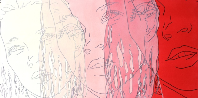 , 'Cream, Pink, Red,' 2015, Artspace Warehouse