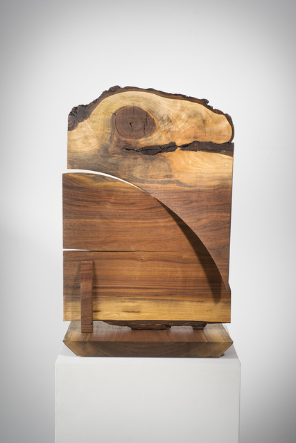 Betty McGeehan, 'Minimal Wood Abstract Sculpture: 'Double Crosser'', 2015-18, Ivy Brown Gallery