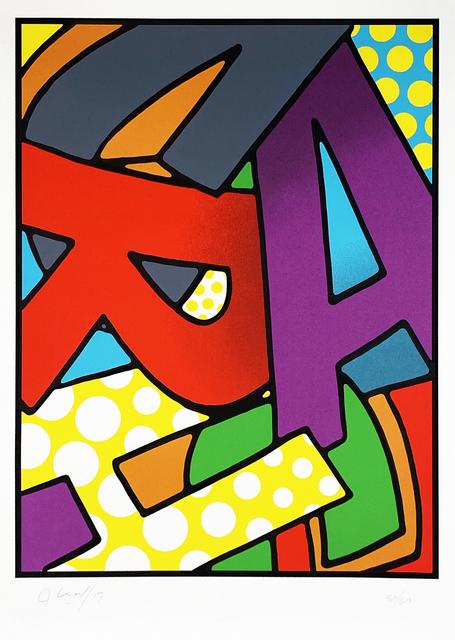 CRASH, ''Scrabble'', 2017, Print, 9-color screen print on 240gsm Arches fine art paper., Signari Gallery