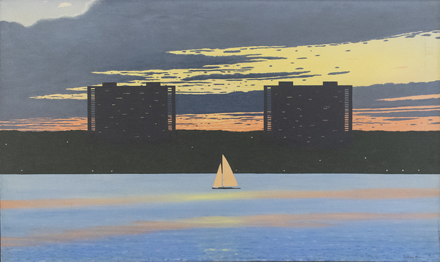 , 'New Jersey Skyline with Sailboat,' ca. 1980, Carrie Haddad Gallery