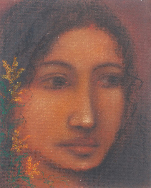 Suhas Roy, ''Radha' Indian Artist Painting from 1960's, Surreal, Ethereal, Dreamlike', 2007, Gallery Kolkata