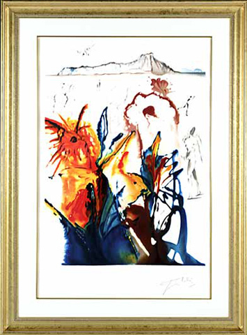 ", '""The Mystery of Diamond Head""   Hand Signed Salvador Dali Lithograph,' 1941-1957, Elena Bulatova Fine Art"