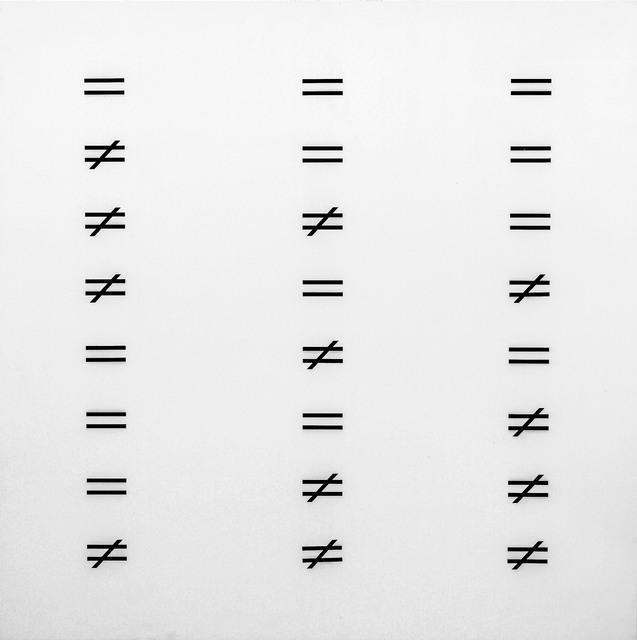 , 'równa się / nie równa się,' 1974, Wroclaw Contemporary Museum