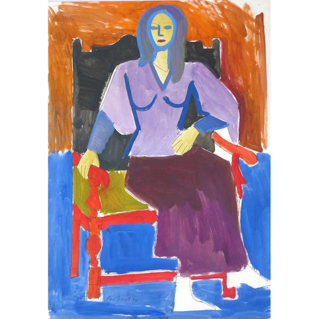 , 'Untitled: seated woman with blue hair ,' 1972, Nikola Rukaj Gallery