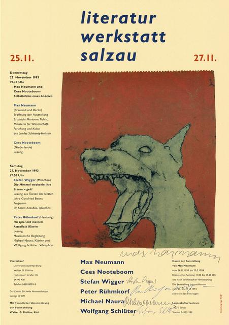 Max Neumann, 'Literatur Werkstatt Salzau', 1993, Sylvan Cole Gallery