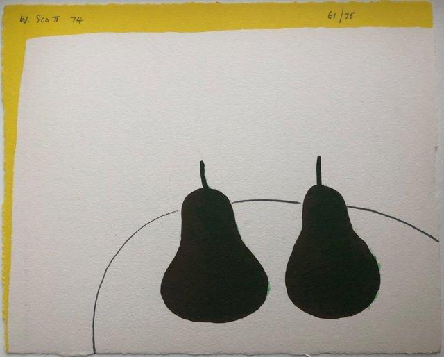 William Scott (1913-1989), 'Dark Pears', 1974, Zuleika Gallery