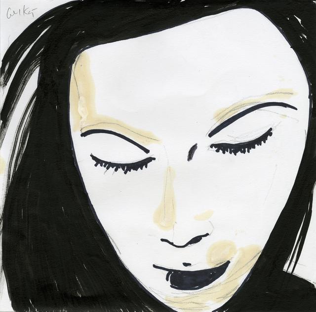 Alex Katz, 'Beauty 1', 2019, Painting, Ink, pencil, marker, oil on paper, Galerie Boisseree