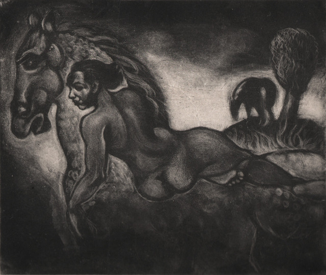 , 'Figure on a Horse,' ca. 1940s-50s, Dolan/Maxwell