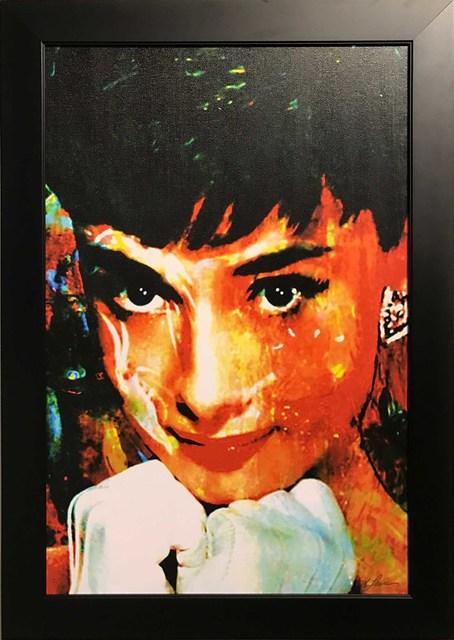 Mark Lewis (American, b. 1958), 'Limited Edition Giclee 'Tiffany Delight - Audrey Hepburn' Celebrity Pop Art, Famous People Artwork', 2017, Fringe Gallery